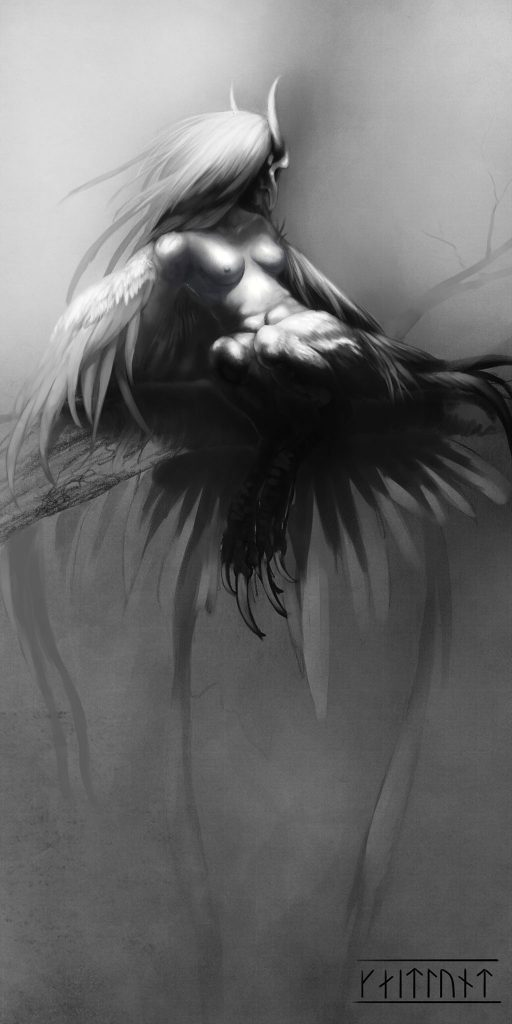 The Harpy Nude - Ethereal Fantasy Art - Artwork of