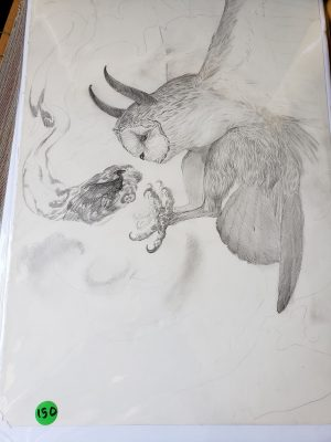 Unfinished Drawing 4 by Kaitlund Zupanic