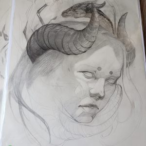 Unfinished Drawing 1 by Kaitlund Zupanic