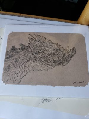 Unfinished Drawing 5 by Kaitlund Zupanic