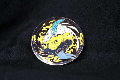 Dragons Kill With Fire - Yin and Yang Pin