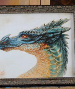 Blue Dragon Head by Kaitlund Zupanic